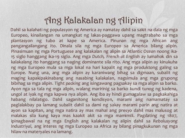 Ang Kalakalan ng Alipin Dahil sa kalahati ng populasyon ng America ay namatay dahil sa sakit na dala ng mga Europeo, kinai...