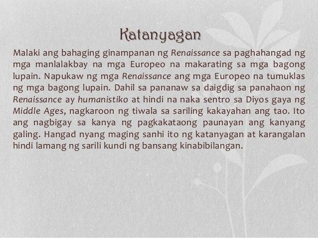 Katanyagan Malaki ang bahaging ginampanan ng Renaissance sa paghahangad ng mga manlalakbay na mga Europeo na makarating sa...