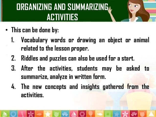 summarizing and paraphrasing a source activity In this cooperative learning activity, groups of three students paraphrase from an assigned essay to create an original three-paragraph paper.