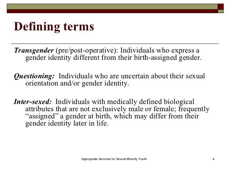 Pre-sexual definition