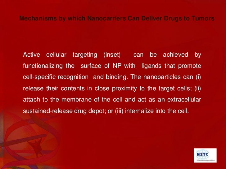 Examples of Nanocarriers for Targeting Cancer <br />A whole range of delivery agents are possible but the main components ...