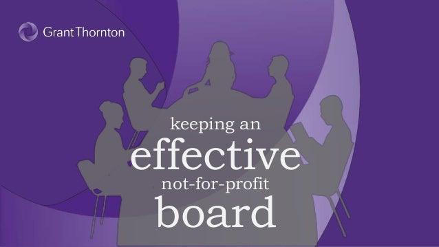 Keeping an effective not-for-profit board