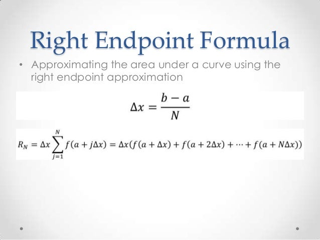 how to find area to the right of the endpoint