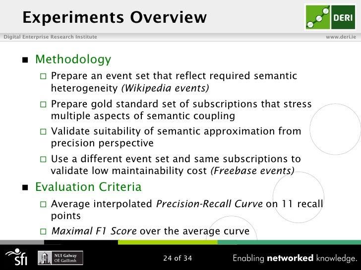 Experiments OverviewDigital Enterprise Research Institute                                          www.deri.ie       n  ...