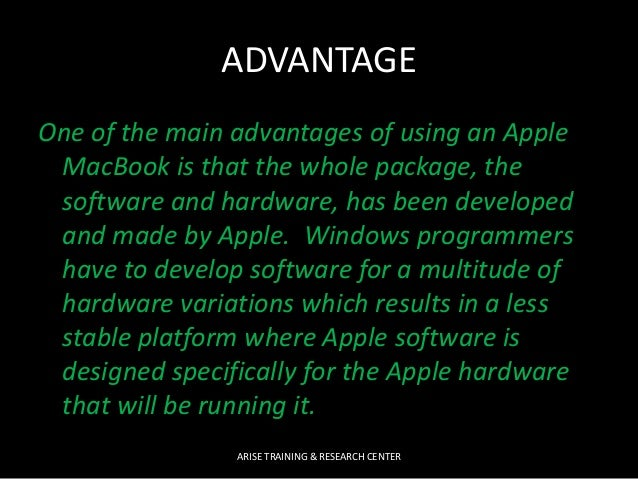 advantages and disadvantages of apple company