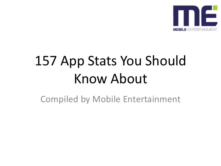 157 App Stats You Should Know About<br />Compiled by Mobile Entertainment<br />