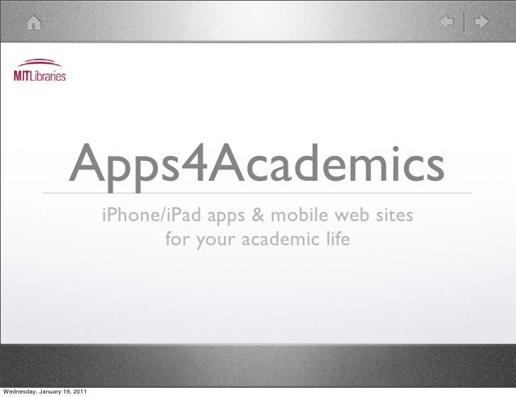 Apps4Academics: iPhone/iPad apps & mobile web sites for your Academic Life