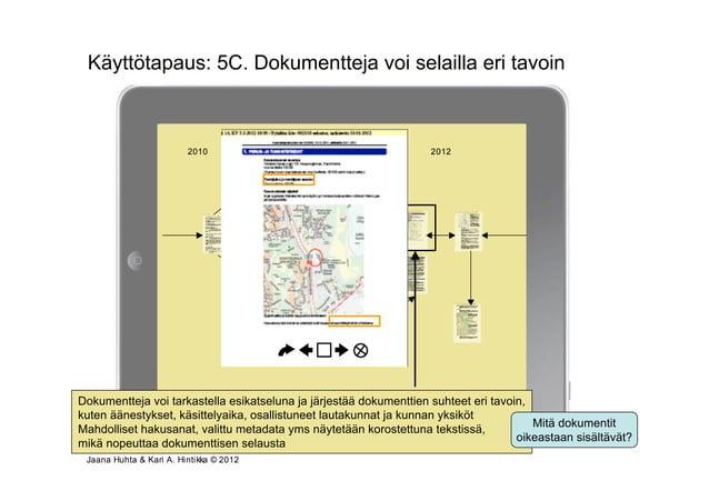 Käyttötapaus: 5C. Dokumentteja voi selailla eri tavoin                       Osallistumis- ja arviointisuunnitelmavaiheInt...