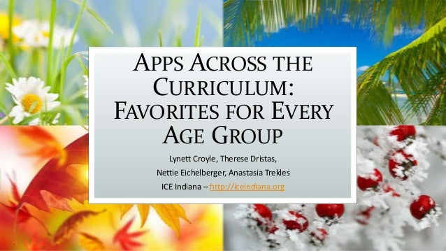 APPS ACROSS THE CURRICULUM: FAVORITES FOR EVERY AGE GROUP Lynett Croyle, Therese Dristas, Nettie Eichelberger, Anastasia T...