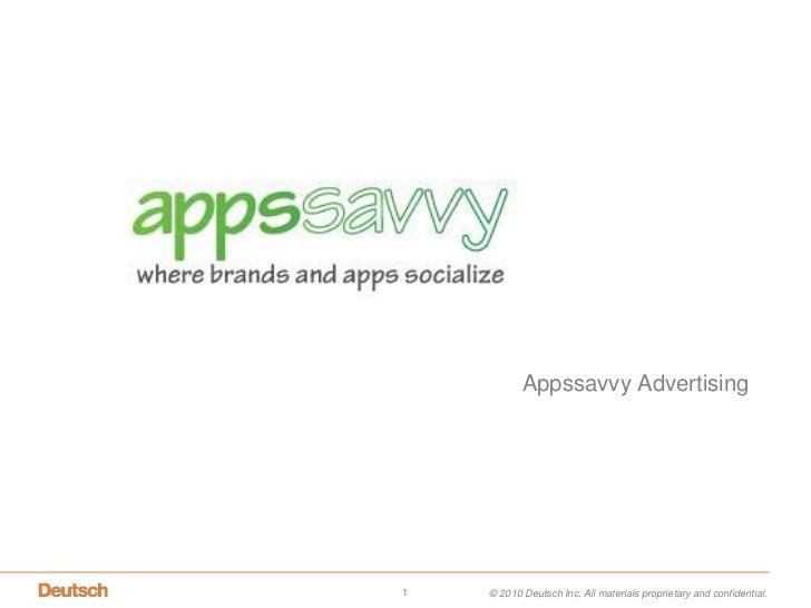 AppssavvyAdvertising <br />