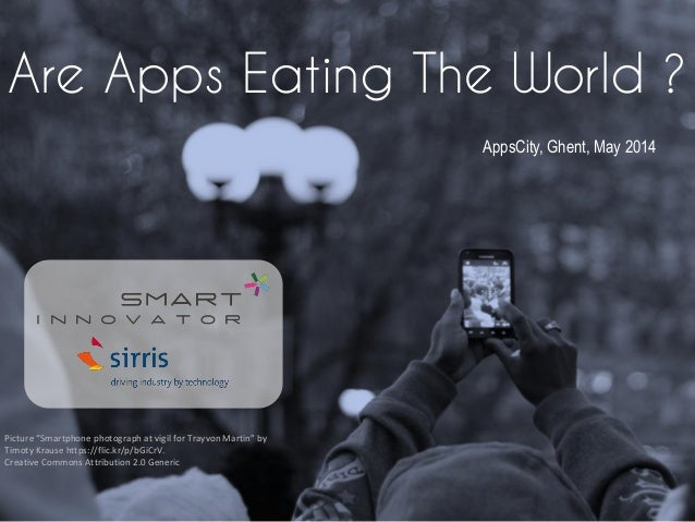 """Are Apps Eating The World ? Picture """"Smartphone photograph at vigil for Trayvon Martin"""" by Timoty Krause https://flic.kr/p..."""