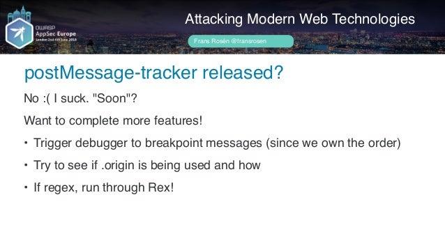 "OWASP AppSecEU 2018 – Attacking ""Modern"" Web Technologies"