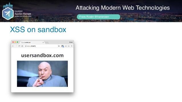 Author name her User creates a document Attacking Modern Web Technologies Frans Rosén @fransrosen ACME.COM usersandbox.com...
