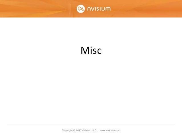 Copyright © 2017 nVisium LLC · www.nvisium.com Misc