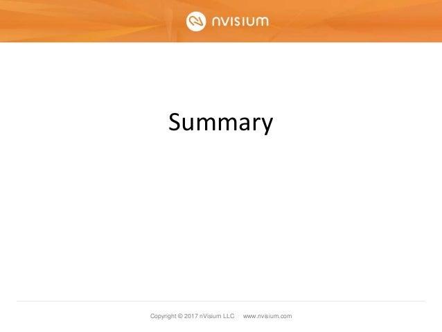 Copyright © 2017 nVisium LLC · www.nvisium.com Summary
