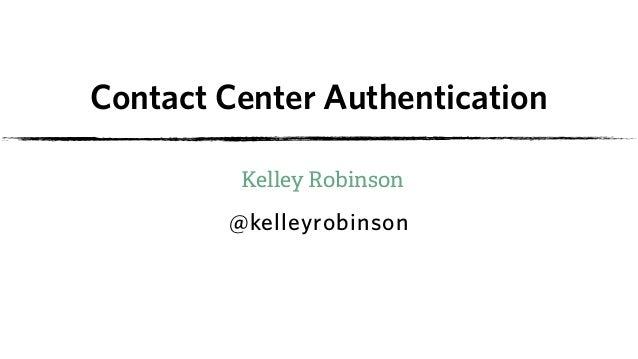 Contact Center Authentication Slide 3
