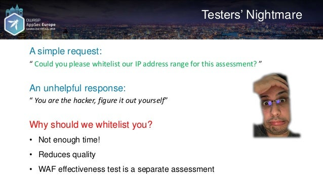 WAF Bypass Techniques - Using HTTP Standard and Web Servers' Behaviour Slide 3