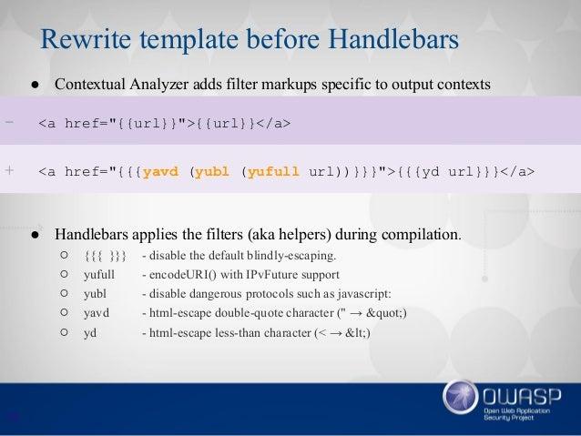 Efficient Context-sensitive Output Escaping for Javascript