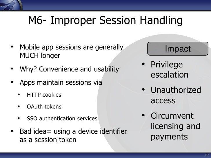 12<br />M1- Insecure Data Storage<br /><ul><li>Sensitive data left unprotected
