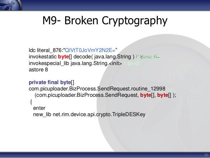 Non-compliance</li></li></ul><li>13<br />M1- Insecure Data Storage<br />