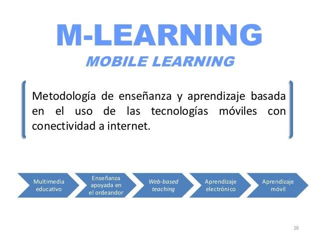 FILOSOFÍA DEL M-LEARNINGLas tecnologías móviles constituyen un instrumentoatractivo y sencillo para mantener las competenc...