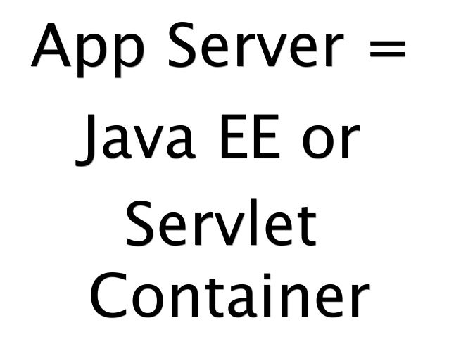 Java Application Servers Are Dead!