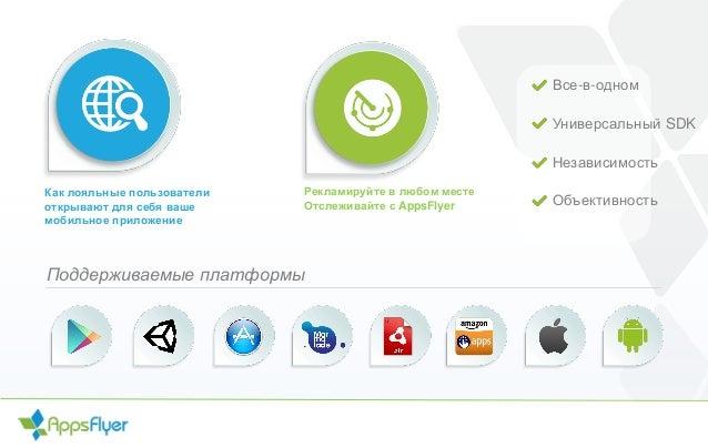 Как лояльные пользователи открывают для себя ваше мобильное приложение Все-в-одном Универсальный SDK Независимость Объекти...