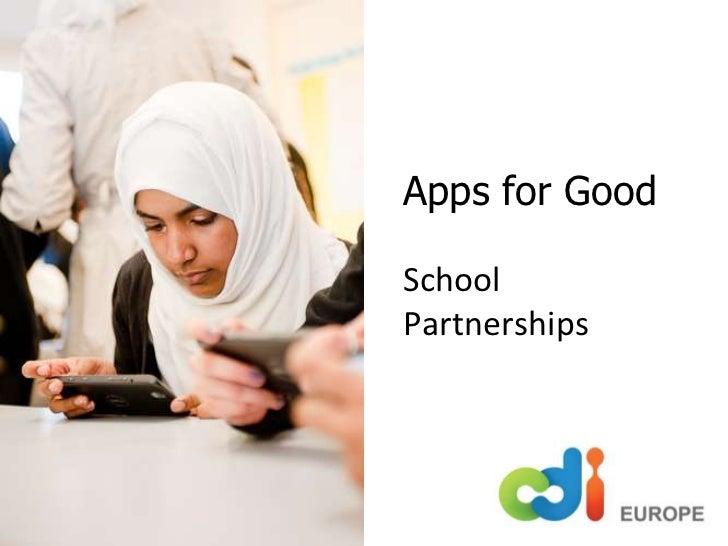 Apps for GoodSchool Partnerships<br />