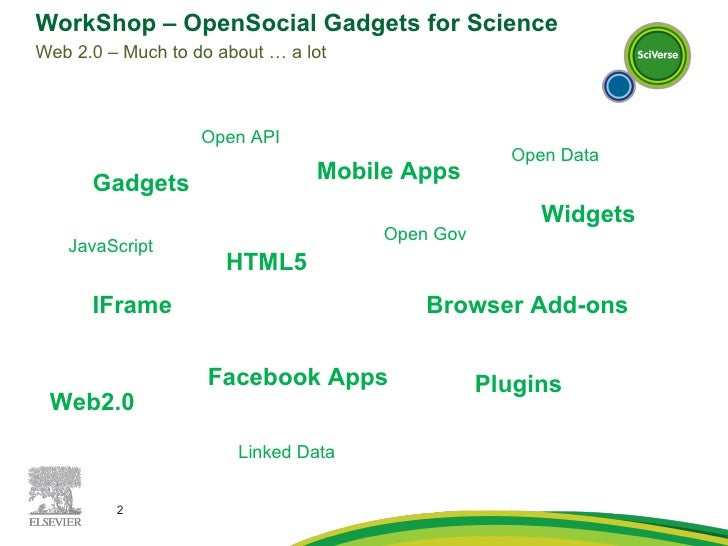 WorkShop – OpenSocial Gadgets for Science Web 2.0 – Much to do about … a lot   Gadgets Widgets IFrame HTML5 Browser Add-on...