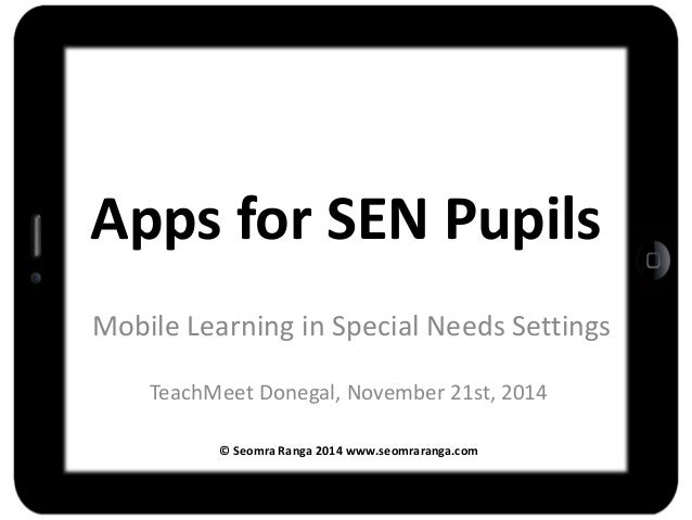Special Needs Apps From November >> Apps For Pupils With Special Educational Needs Sen