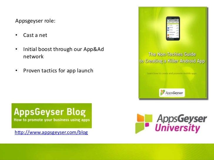 Appsgeyser presentation at MoDevEast