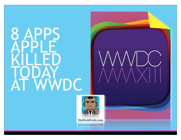 8 APPSAPPLEKILLEDTODAYAT WWDC
