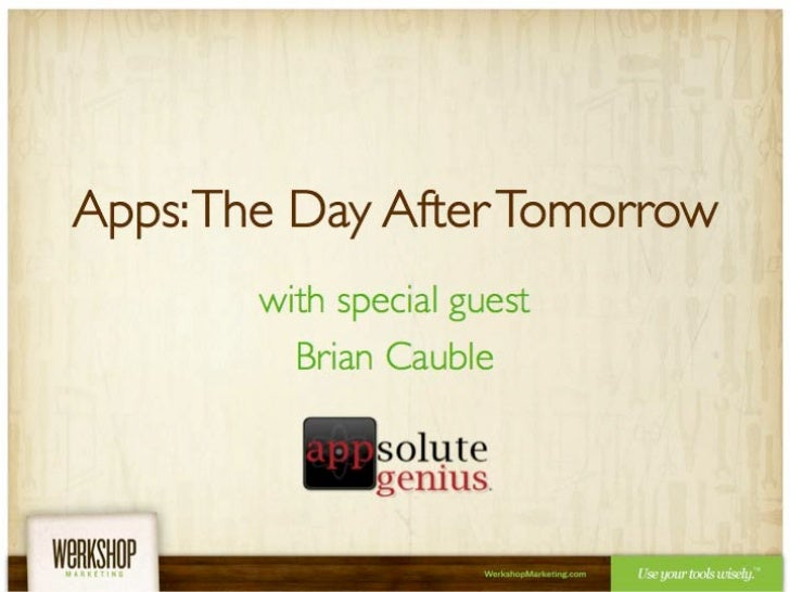 Apps: The Day After Tomorrow