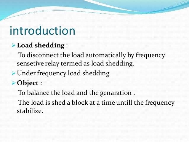 introduction to load shedding Prc‐010‐1 – undervoltage load shedding page 1 of 21 a introduction 1 title: undervoltage load shedding 2 number: prc‐010‐1 3 purpose: to establish an integrated and coordinated approach to the design,.