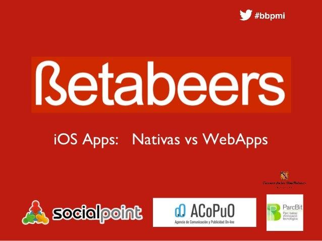 iOS Apps: Nativas vs WebApps