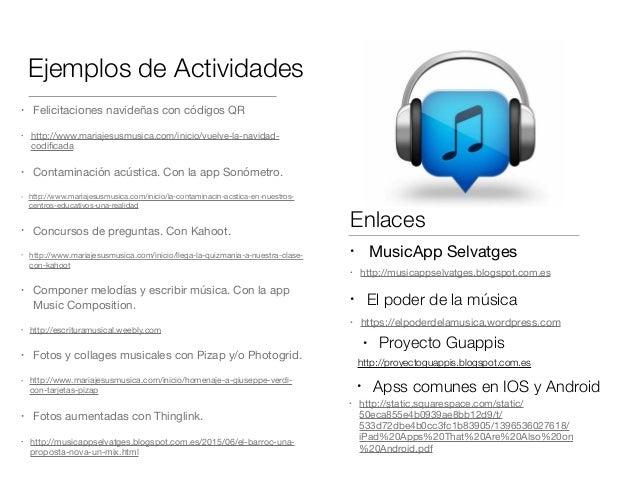Ejemplos de Actividades • Felicitaciones navideñas con códigos QR  • http://www.mariajesusmusica.com/inicio/vuelve-la-navi...