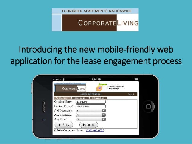 . Introducing the new mobile-friendly web application for the lease engagement process