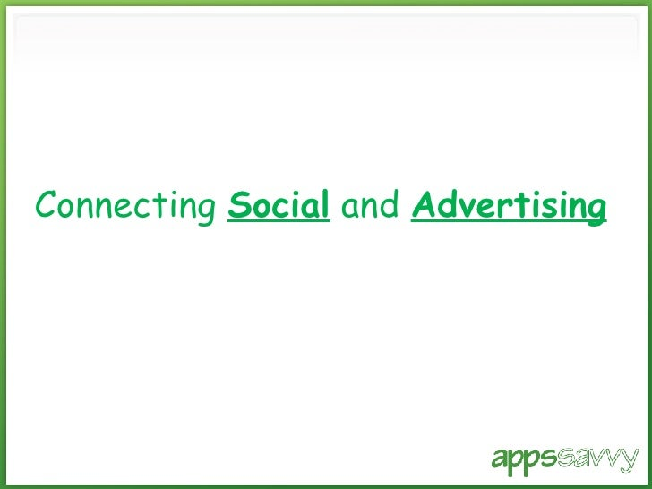 Connecting  Social  and  Advertising