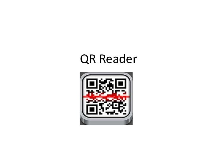 What does scanning  a QR code do?