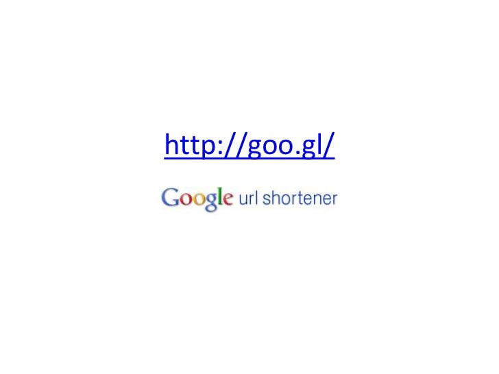The Google shortener will also track how often a QR code is          scanned!