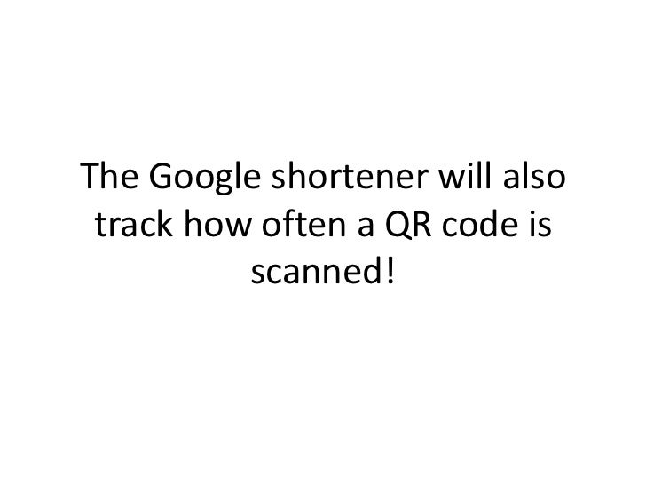 """A shortened URL will give you a   cleaner looking QR Code - the  more letters (characters) in yourlink the more """"pixels"""" i..."""