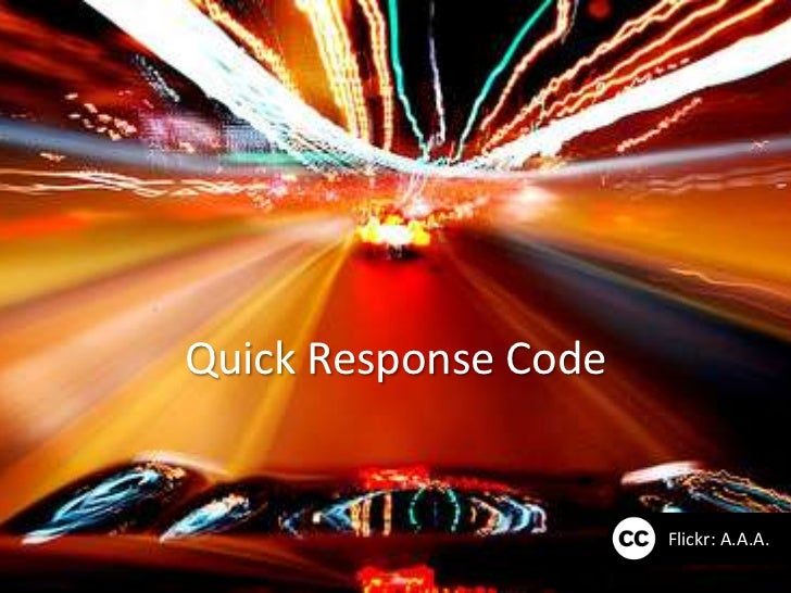 Quick Response Code                      Flickr: A.A.A.