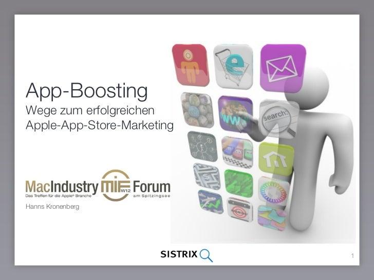 App-BoostingWege zum erfolgreichenApple-App-Store-MarketingHanns Kronenberg                            1
