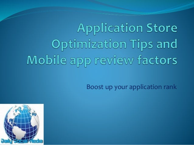 Boost up your application rank