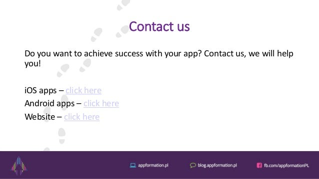 Contact us Do you want to achieve success with your app? Contact us, we will help you! iOS apps – click here Android apps ...