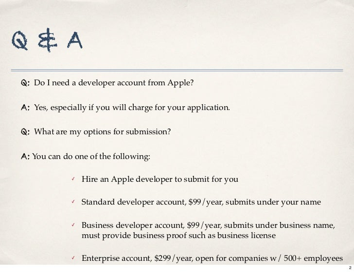 iPhone App Store submission process Slide 2