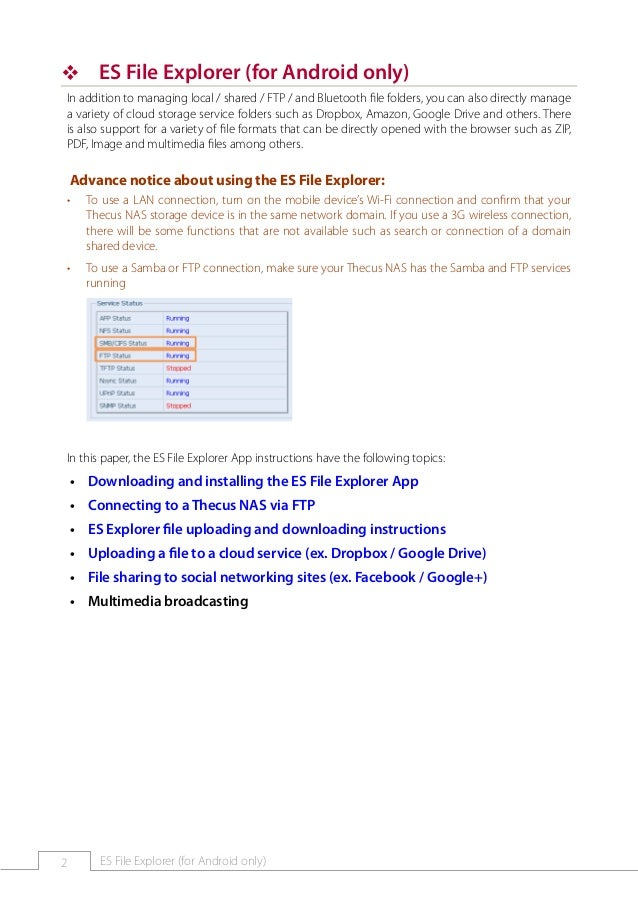 How To Guide Es Explorer Works On Thecus Nas