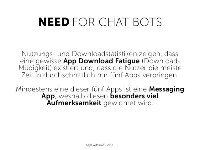 Chat Bots 101 - by Apps with love Slide 2