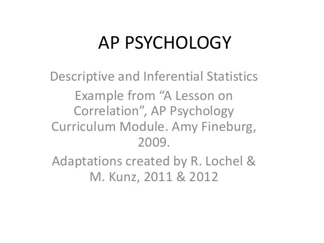 Ap Psych Stats Methods Revised 12 13