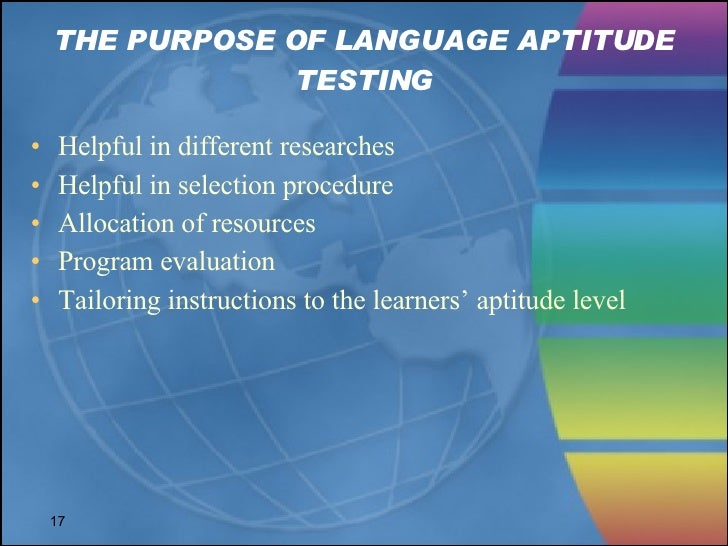 aptitude in sla Understanding second language acquisition by lourdes ortega discussion questions for chapter 7: foreign language aptitude aptitude in relation to sla.